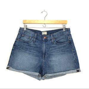 J.Crew Boyfriend Short Denim Blue Jean Cuffed A0